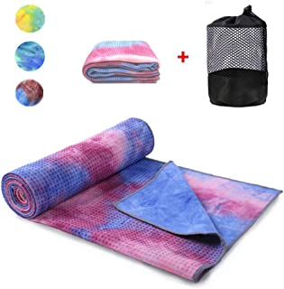 WeYingLe Yoga Mat Towel Non Slip Hot Yoga Towel,Sweat Absorbent, for Hot Yoga, Bikram, Pilates