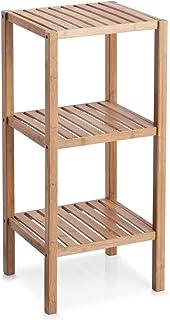 Zeller 13574 - Estantería Auxiliar (bambú, 3 baldas, 37 x 33 x 30 cm)