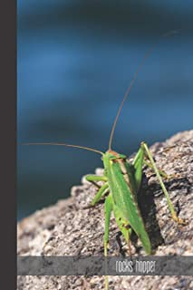 Rocks hopper: small lined Grasshopper Notebook / Travel Journal to write in (6'' x 9'') 120 pages