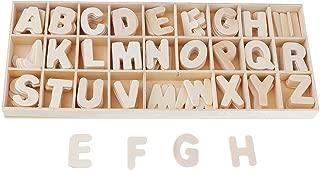 Set Holzbuchstaben Holz Handwerk Alphabet mit Ablage 156 Teile