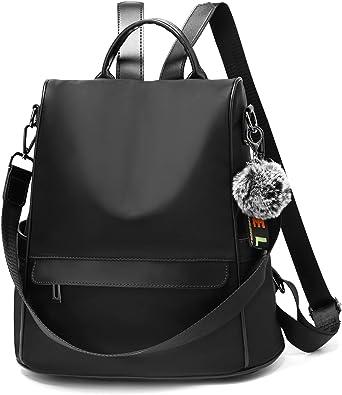 OUSIMEN Rucksack Daypack Damen Wasserdichte Nylon Schultasche Anti Diebstahl Schultertasche Leichtgewicht Reiserucksack