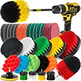 Holikme 37Piece Drill Brush Power Scrubber Products Cleaning kit for Grout, Tiles, Sinks, Bathtub, Bathroom, Kitchen