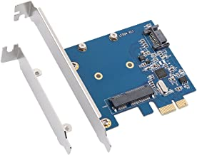 QNINE PCIe to MSATA SSD or SATA3.0 Combo Expansion Card, PCI Express Controller Mini SATA SSD Adapter for PC Desktop with Low Bracket
