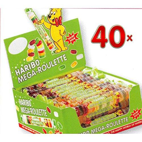 Haribo Mega Roulettes Fruits Citrics 40 x 45g Packung (saure Fruchtgummi-Taler)