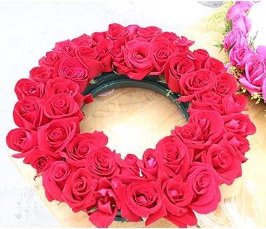 SUPVOX Foam Rings - 11-Inch Wet Floral Foam Designer Ring Oasis Wreath Base (Green)