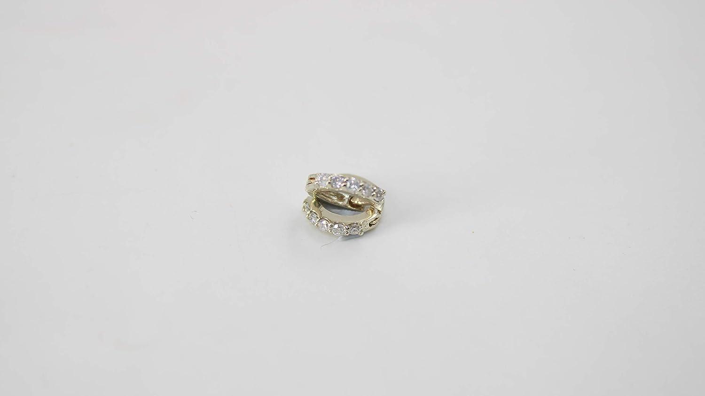 Women's Reservation 14K Gold Hoop Max 42% OFF Earrings Rose 9 Mm White