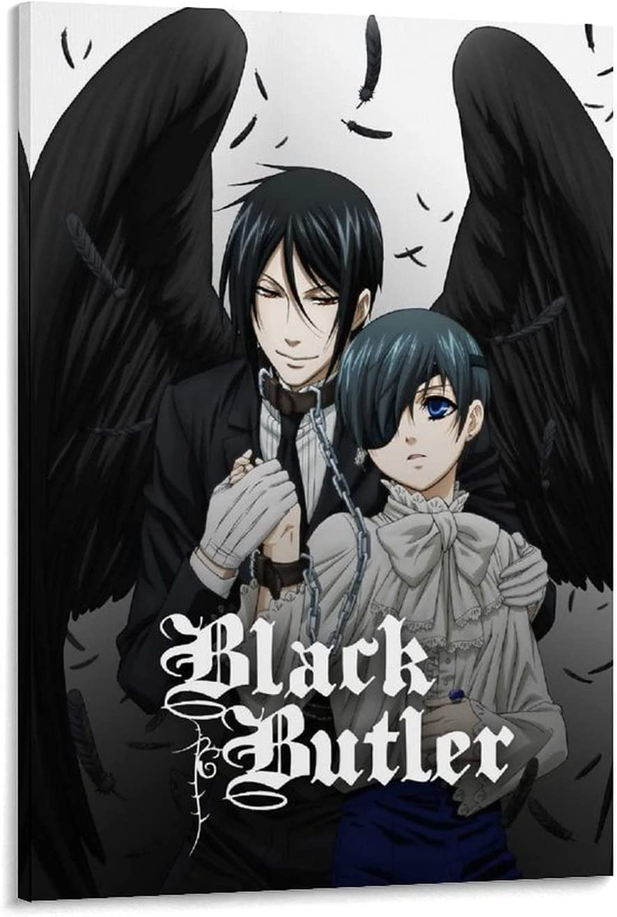 Memphis Mall SENMUM Anime Aesthetic 25% OFF Poster Black Canvas - Art a Butler