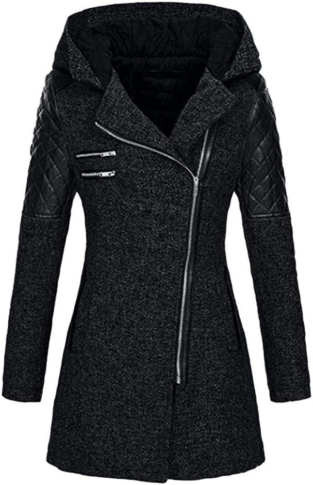 Women Coats, Women Trench Coat Long Sleeve Pea Coat Open Front Long Jacket Overcoat Outwear