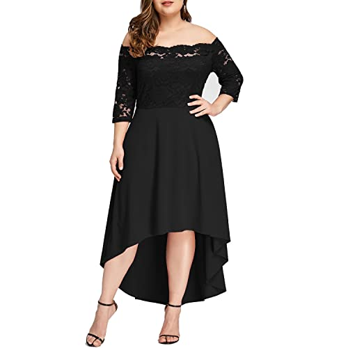 f3573c128ef49 5XL Plus Size Black Dresses: Amazon.com