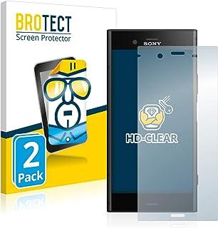 BROTECT 2x Schermbeschermer compatibel met Sony Xperia XZ1 Screen protector transparant