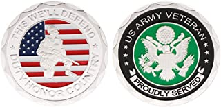Ladaidra Commemorative Coin US America Army Veteran Honor Collection Souvenir Collectible Coins Art Crafts Commemorate Alloy