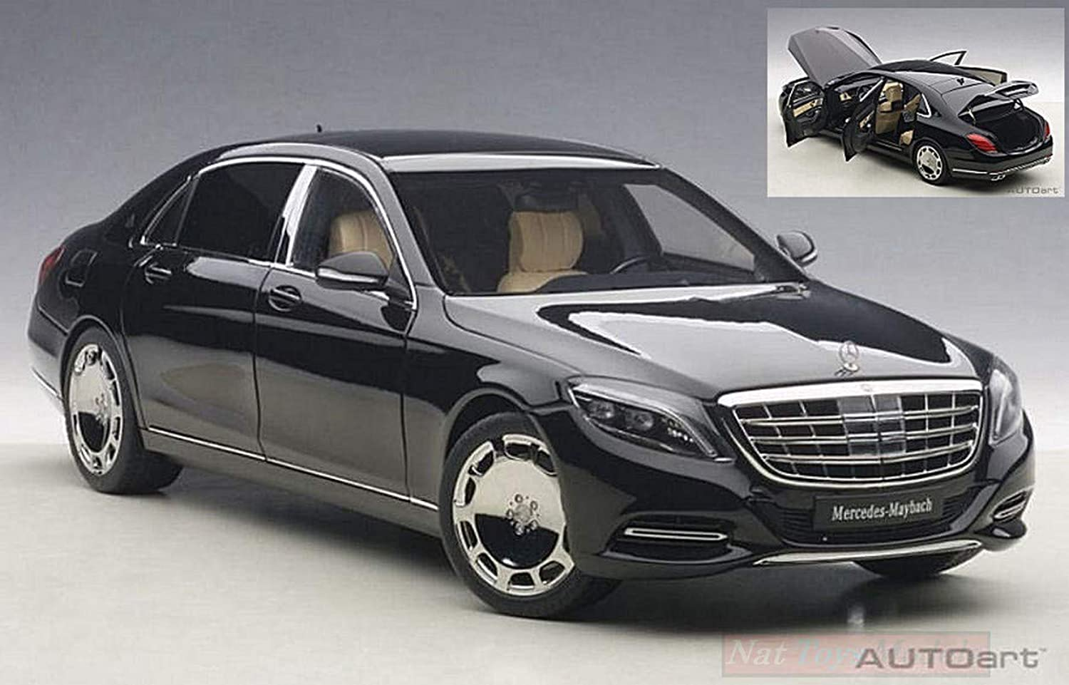 AUTOART AA76293 MERCEDES MAYBACH S-KLASSE (S600) 2016 schwarz 1 18 DIE CAST MODEL