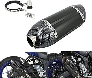 Alpha Rider Universal Motorcycle Carbon Fiber 51mm Slip-On Exhaust Muffler Exhaust Pipe For Yamaha MT-03 660 2006 - 2014 , FZ6 / FZ6 FAZER 2004 - 2011 Black