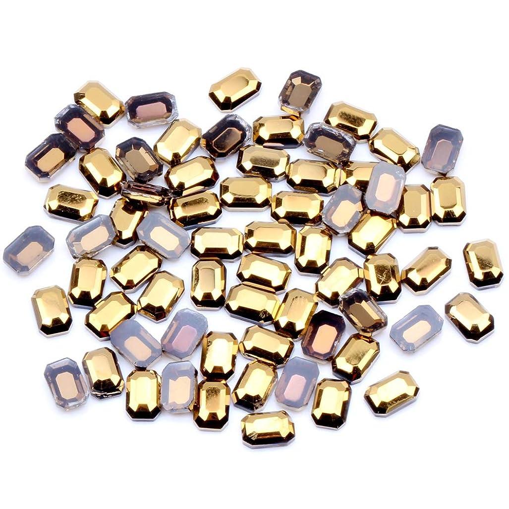 眠るデンマーク男らしいNIZIマルチサイズオプション20ピースヘマタイトゴールドフラットバックラインストーンキラキラガラスストラスdiyネイルアートストーンダンス服の装飾(01ヘマタイトゴールド4×6)
