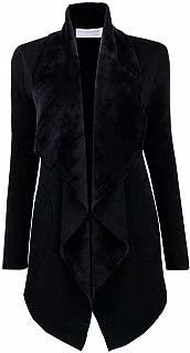 Women's Long Sleeve Open Front Draped Business Blazer Cardigan Jacket S-2XL