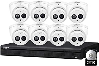 Dahua Security Cameras System,8 Channel Poe Network Video Recorder NVR with 6MP(3072x2048) Indoor Outdoor Waterproof CCTV IP Cameras IPC-HDW4631C-A 2.8mm (8 Camera System, Build-in HDD:2TB)