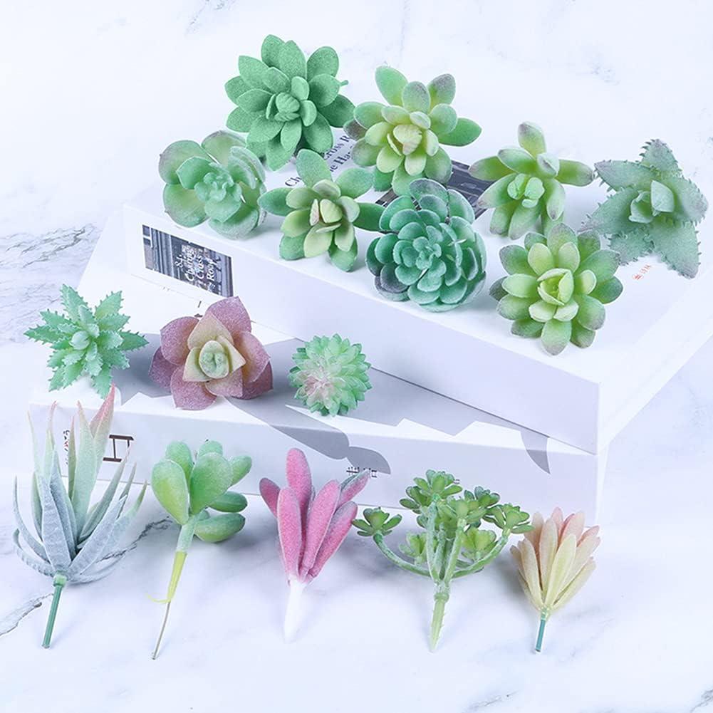 16pcs Faux Succulents Artificial Plants,Realistic Faux Mini Succulent Plants for Home Decor