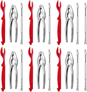 Artcome 20 pcs Seafood Tools Set Including 8 Forks, 6 Crab Crackers and 6 Lobster Shellers Nut Cracker Set