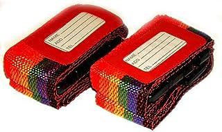 2 x 2 st justerbara bagagebälte rese säkerhetsband set – röd