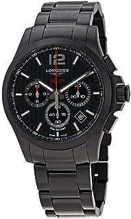 Longines Conquest V.H.P. Perpetual Chronograph Black Carbon Dial Men's Watch L37172666
