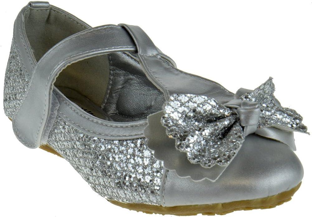 70% OFF Outlet Alicia K Factory outlet Little Girls Glitter Bow Flats Ballet Ballerina