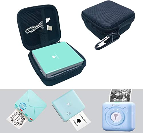 Mini Photo Printer Case for Phomemo M02S and M02 Pro Pocket Printer,PeriPage Printer A6 and PAPERANG Thermal Label Pr...