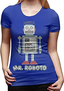 Mr Roboto Women's Fashion Short-Sleeved T-Shirt T Shirt