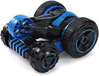 2.4Gリモートコントロールワンボタン変形フリップクールライト360度回転両面カースタントカー子供変形おもちゃを充電