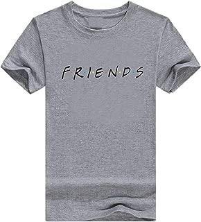 Jmwss QD Womens Shirt Crew Neck Casual Short Sleeve Summer Letter Print Top Blouse T Shirt 3 Smalll