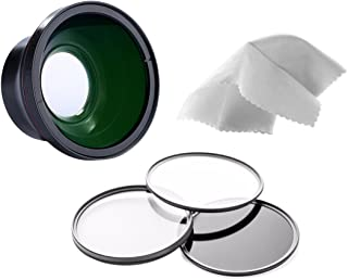 Nwv Direct Micro Fiber Cleaning Cloth + 82mm Circular Polarizing Filter High Definition 0.5x Wide Angle Lens With Macro 43-58mm Canon Vixia HF M40 Stepping Ring