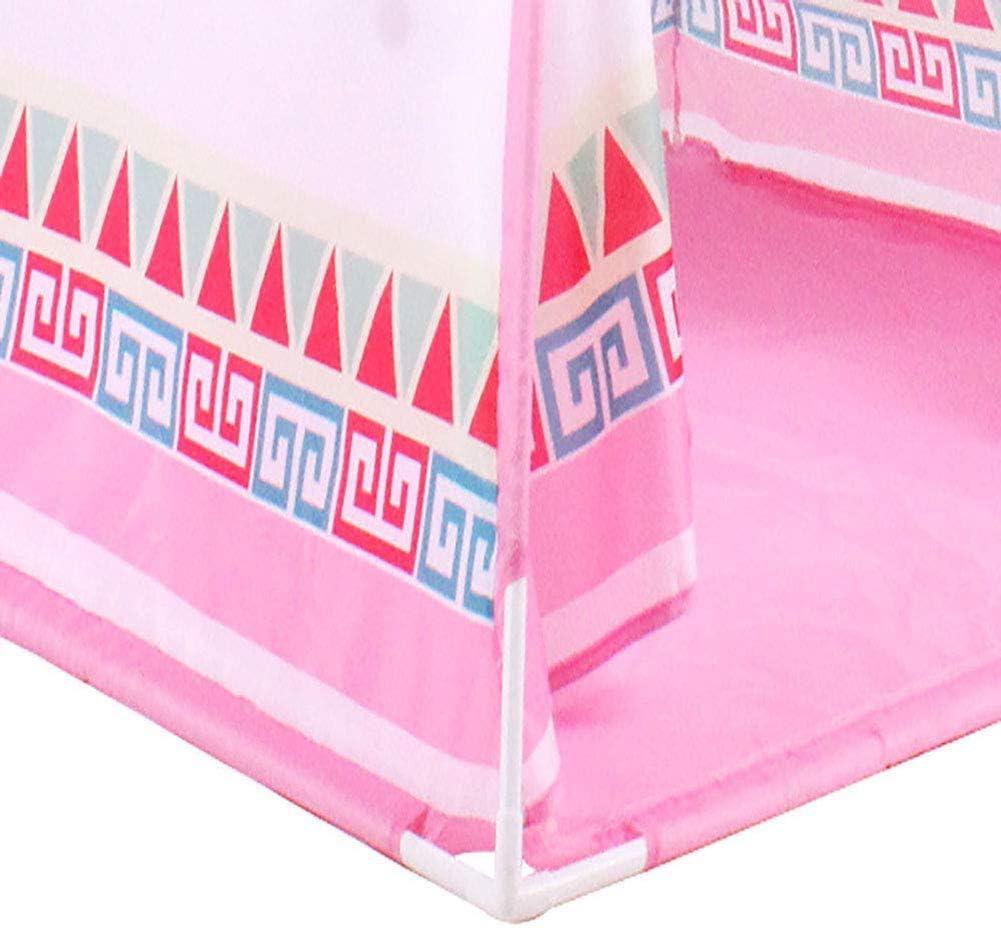 NBVCX Accessoires de Vie Tente tipi pour Enfants Enfants Jouer Tente Maison de Jeu écran de Ventilation en Tissu Polyester respectueux de l'environnement Tuyau en PVC Solide Pink
