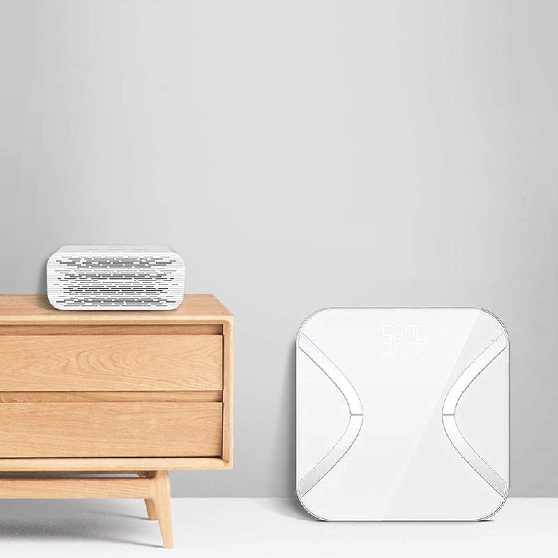 Balanza de grasa corporal inteligente caliente peso peso corporal balanza balanza digital baño pesaje Bmi báscula de suelo electrónico Bluetooth escala blanca