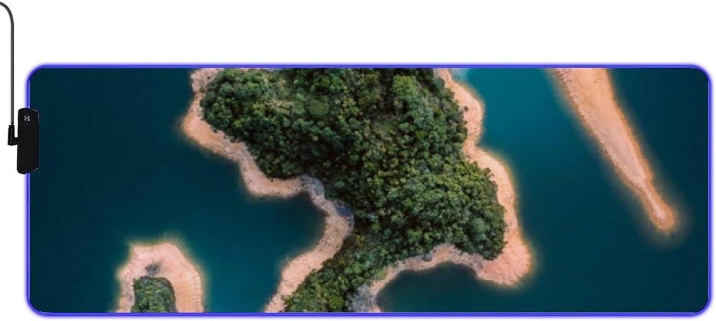LUOWAN Luminous Gaming Mouse Mat Award Scenery Beauty Island Landscape Finally popular brand