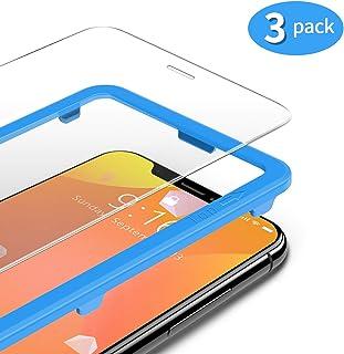TAMOWA (3-pack skärmskydd för iPhone 11 Pro Max/iPhone XS Max, premium härdat glas 9H skottsäker film med installationsra...