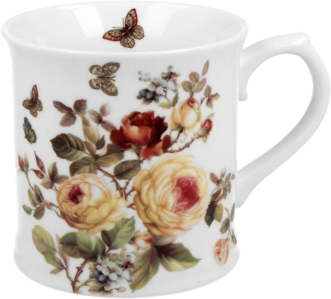 Duo Safa Tasse /à caf/é en porcelaine 460 ml Motif floral Couleurs pastel