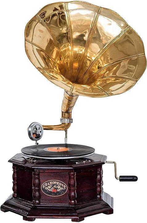 Grammofono decorato in stile antico  aubaho gramophone B075SKVNR2