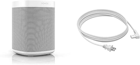 All-New Sonos One with Long Power Cable. The Smart Speaker for Music Lovers with Amazon Alexa built-in for Wireless Music ...