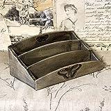 Vintage Briefablage 26x16 cm Holzablage Landhaus Shabby Briefbox Deko Handarbeit