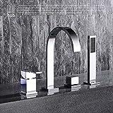 HPB Brass Hot and Cold Water Bathroom Shower Faucet Deck Mounted Bathtub Mixer Bath Set torneira banheiro chuveiro HP5305