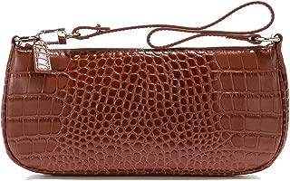 Retro Shoulder Bag For Women Ins Crocodile Pattern Baguette Bag