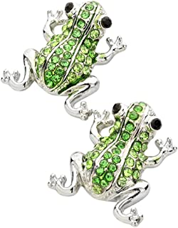 Frog Fashionable Earrings - Stud - Sparkling Crystal - Unique Gift and Souvenir - 3 Colors