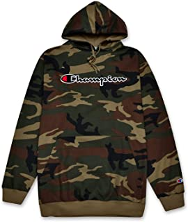 Champion Mens Big and Tall Hoodie Sweatshirt with Embroidered Script Logo