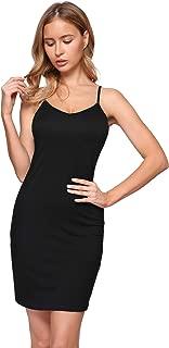 Women's V Neck Sleeveless Spaghetti Straps Bodycon Mini Club Dress