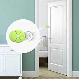 Ycozy BabySafe ドア指ブロック ドア 挟み防止 器具 ドアへの指挟み防止器具 ドア 指はさみ | フィンガーガード ・子供指はさみ防止・安全対策 | 穴/道具不要・3M テープ | 2本セット | グリーン