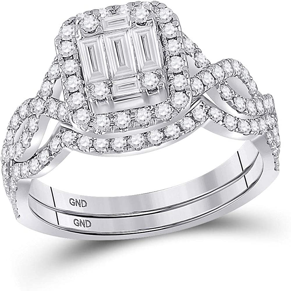 Dazzlingrock Collection 14kt White Directly 2021 model managed store Baguette Bridal Gold Diamond