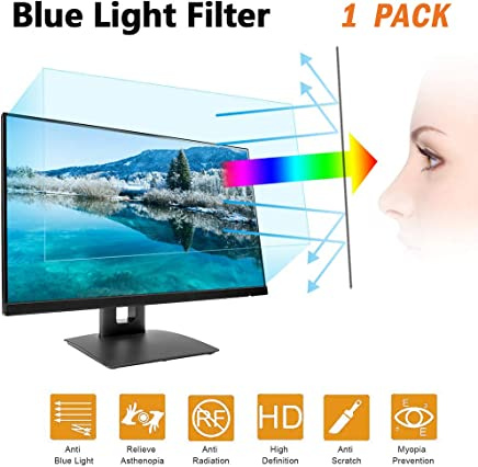 "24 in Anti Blue Light Laptop Screen Protector, Anti Blue Light & Glare Filter Film Eye Protection Blue Light Blocking Screen Protector for 24"" Widescreen Desktop Monitor Display 16:9 (532x299 mm)"