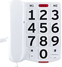 $34 » Dododuck Amplified Corded Phone for Seniors with Large Easy to Read Buttons, Extra Loud Ringer, Adjustable Volume and Long...