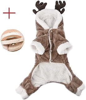027cb87f30f2f Jannyshop Vêtement d Hiver pour Animal Costume de Noël Wapiti Modèle pour  Chien Vêtement en