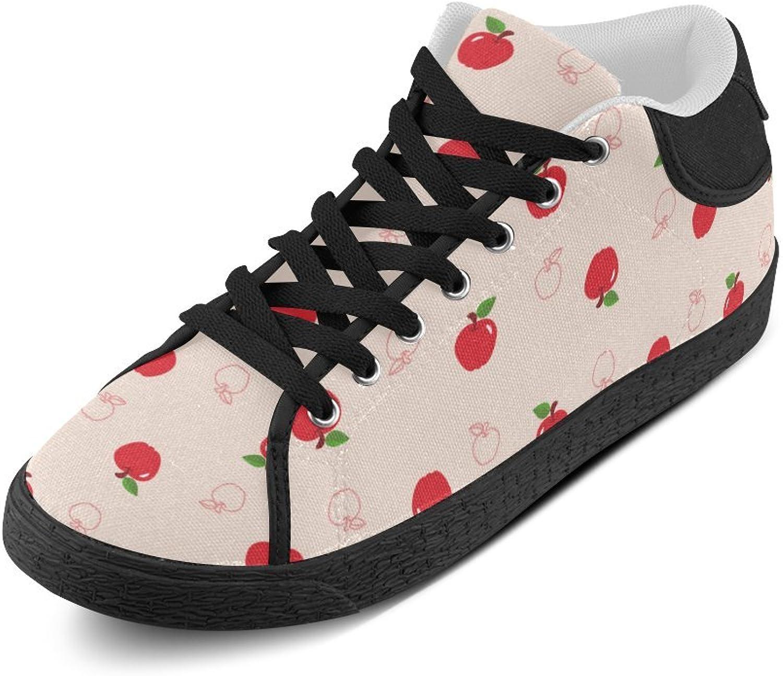 CERLYRUAN Fruits Red Cherry Canvas Chukka Canvas Women's shoes