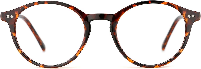 TIJN Vintage Round Frame Marcos para Gafas recetadas para Mujer